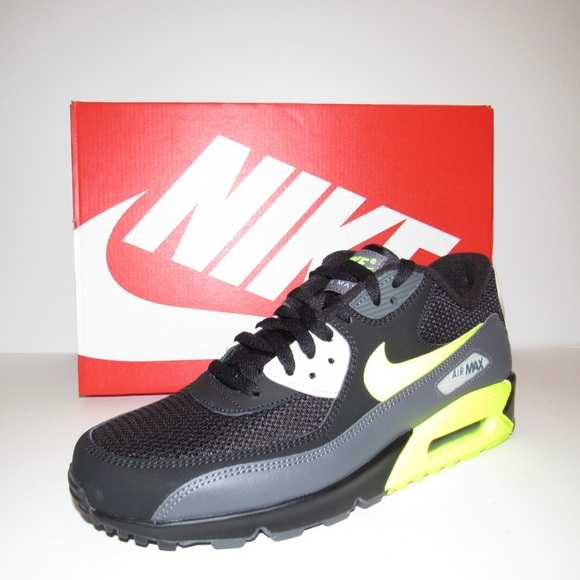 save off bc69c a7436 Nike Air Max 90 Essential Running Black Bone Volt